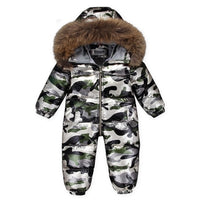 MOF Kids baby snowsuit infant toddler boy girl winter jumpsuit
