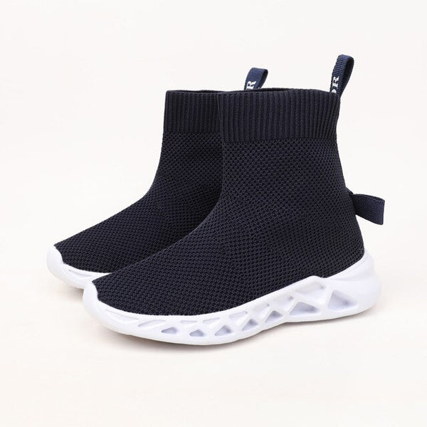 MOF Kids shoes breathable high top sock sneakers