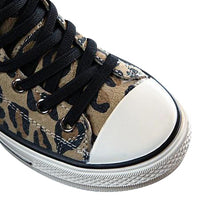 MOF Kids shoes animal print girls autumn high top sneakers genuine leather
