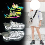 MOF Kids new trendy shoes toddler little kid big kid reflective lace-up sneakers