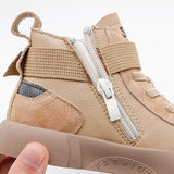 MOF Kids shoes genuine leather high top sneakers