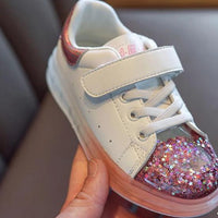 MOF Kids girls shoes 2020 spring children street fashion glitter sneakers
