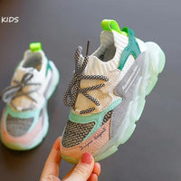 MOF Kids shoes 2020 spring children mesh breathable shoes