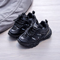 MOF Kids shoes boys girls lace-up chunky sports sneakers toddler little big kids fashion brand trainers children school casual walking shoes