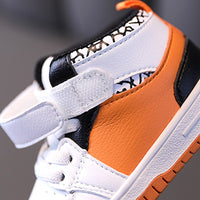 MOF Kids shoes autumn winter infant toddler shoes microfiber leather sneakers high top non-slip children first walkers shoes