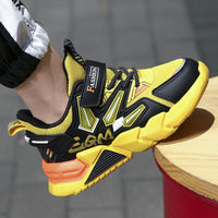 MOF Kids shoes 2020 autumn children fashion breathable shoes boys casual trainers girls sport sneakers baby