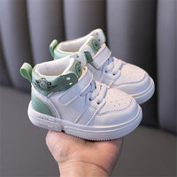 MOF Kids autumn winter baby shoes microfiber leather infant toddler shoes street fashion high top non-slip children sneakers