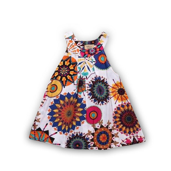 MOF Kids girls multicolor floral printed dress