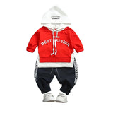 MOF Kids boys autumn hooded tracksuit set sweatshirt & pants
