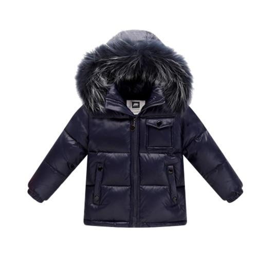2018 Winter Down Jacket Parka for Kids jacket MOF for kids blue navy 2T