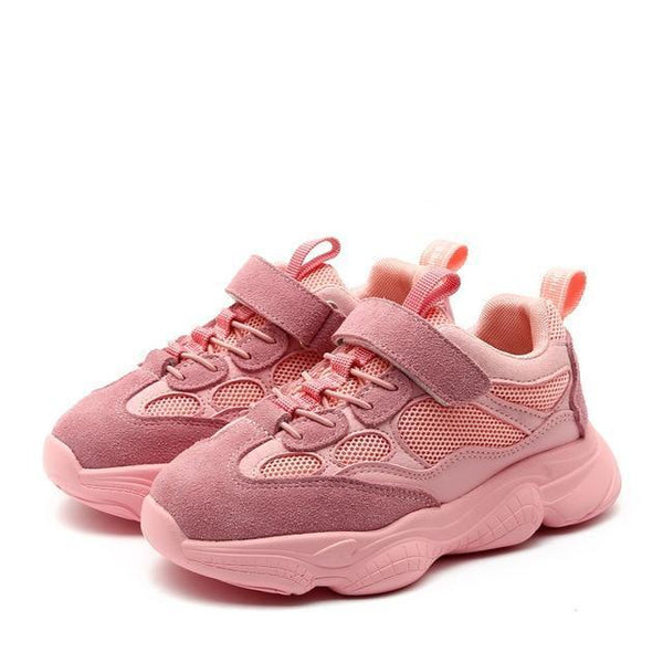 MOF Kids black, pink and beige suede sneakers sneakers MOF for kids Pink 9