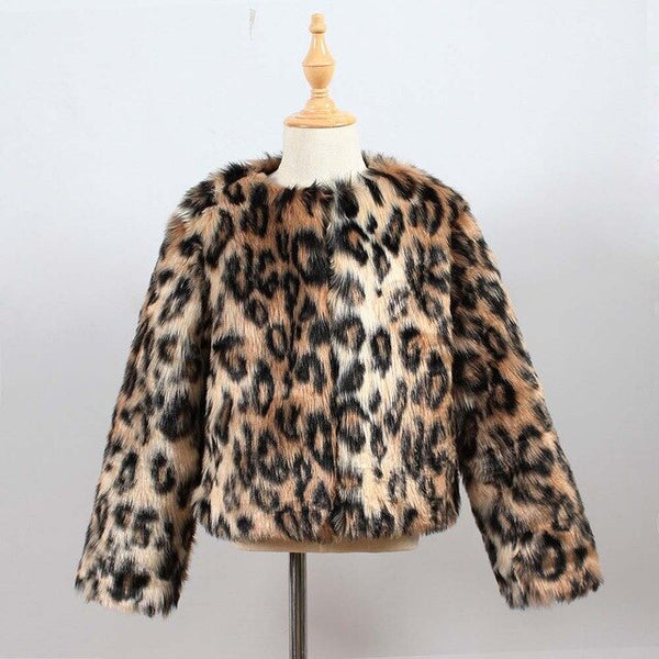 MOF Kids toddler & little girls autumn faux fur coat