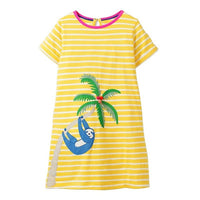 MOF Kids girls animal print summer dress
