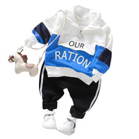 MOF Kids boys autumn printed tracksuit set