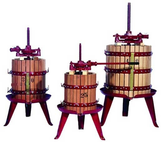 Picture of fruit crusher for Blueberry Wine Recipe