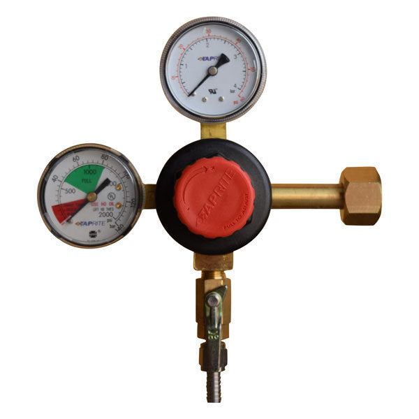 Taprite Dual Gauge Regulator with Adjustment Knob