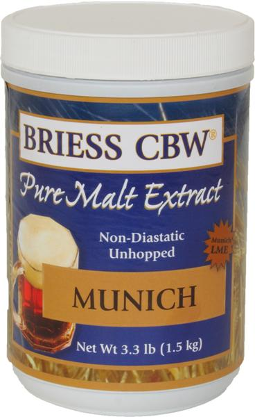 Munich - Briess (USA) Pure Malt Extract - 3.3 Lb.