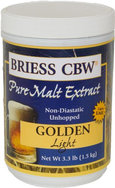 Golden Light - Briess (USA) Pure Malt Extract - 3.3 Lb.