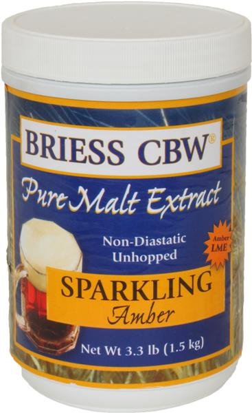 Amber - Briess (USA) Pure Malt Extract - 3.3 Lb.