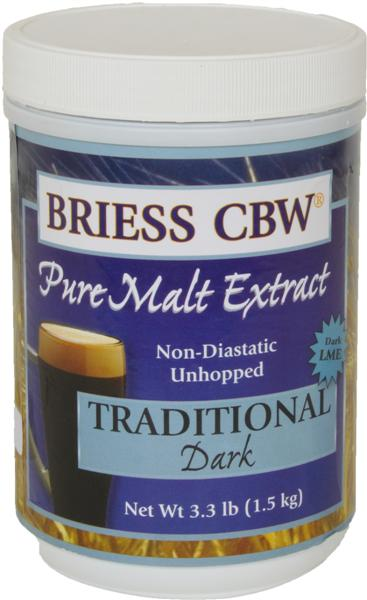 Traditional Dark - Briess (USA) Pure Malt Extract - 3.3 Lb.