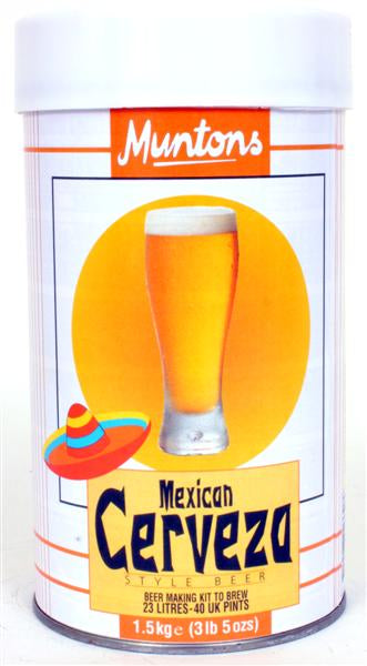 Mexican Cerveza Muntons Malt Extract Beer Making Kit