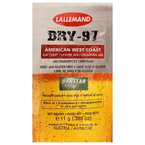 Lallemand BRY-97 West Coast Ale Brewing Yeast 11 Gram