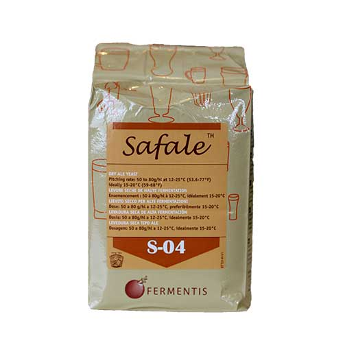 Safale S-04 Dry Ale Yeast 500 Grams