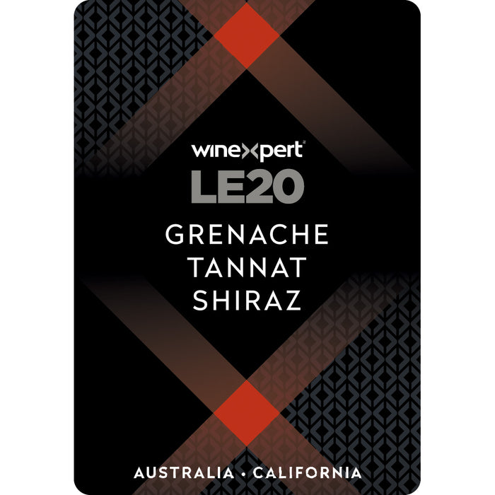 Australia - California Grenache Tannat Shiraz with Grape Skins Winexpert Limited Edition Wine Making Kit