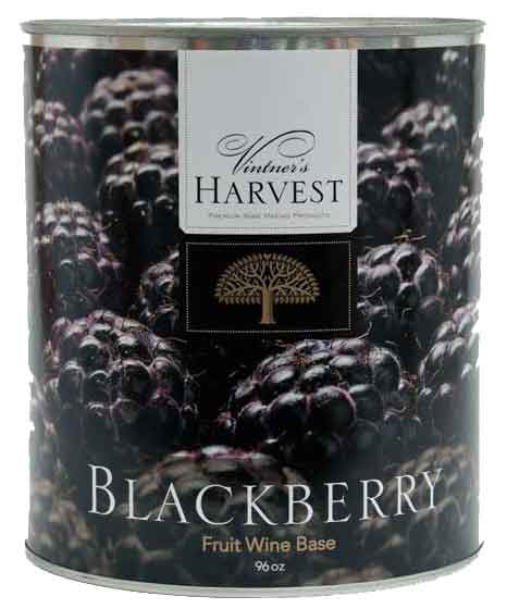 BLACKBERRY Wine Making Fruit Base - 96 oz Can - Fruit and Juice - Vintner's Harvest