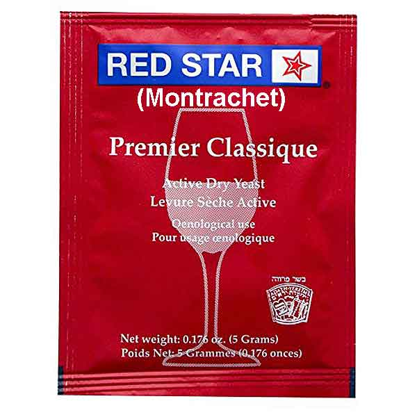 Red Star Premier Classique Red (Montrachet) Wine Yeast - All Purpose