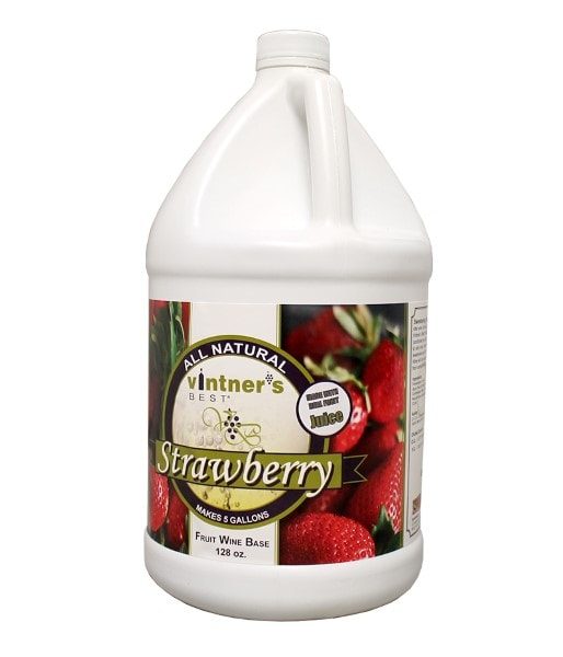 Vintners Best Strawberry Fruit Wine Base - One Gallon Jug
