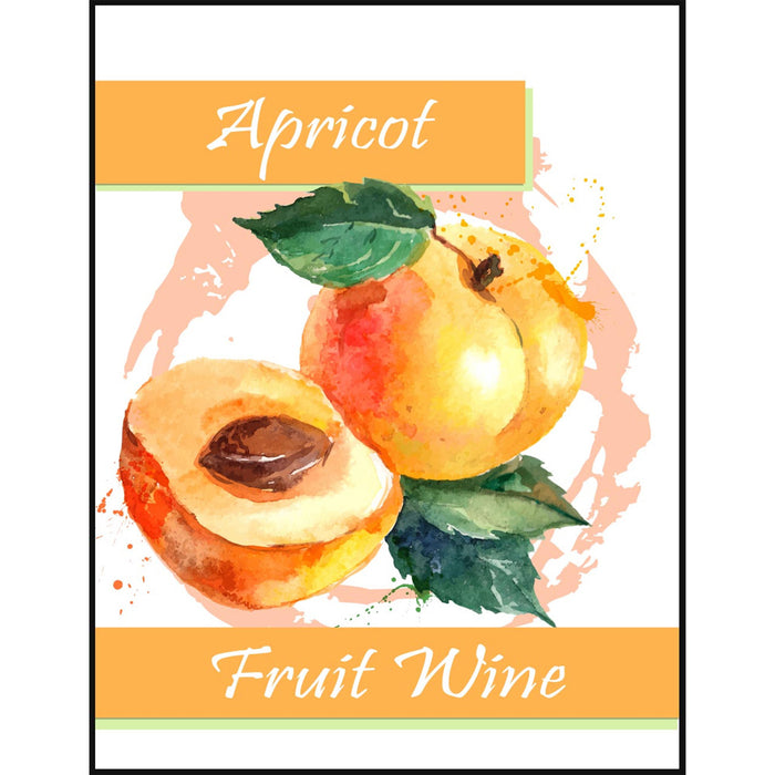 Apricot Fruit Wine Self Adhesive Wine Labels, pkg of 30