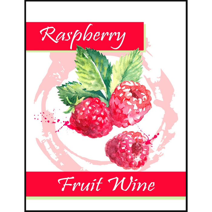 Raspberry Fruit Wine Self Adhesive Wine Labels, pkg of 30