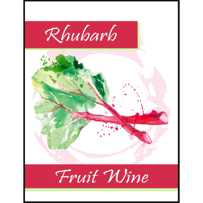 Rhubarb Fruit Wine Self Adhesive Wine Labels, pkg of 30