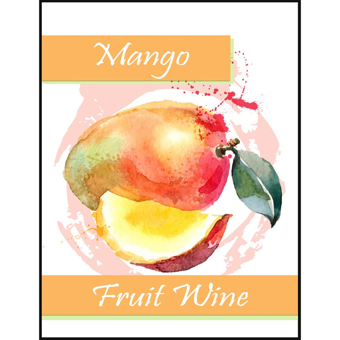 Mango Fruit Wine Self Adhesive Wine Labels, pkg of 30