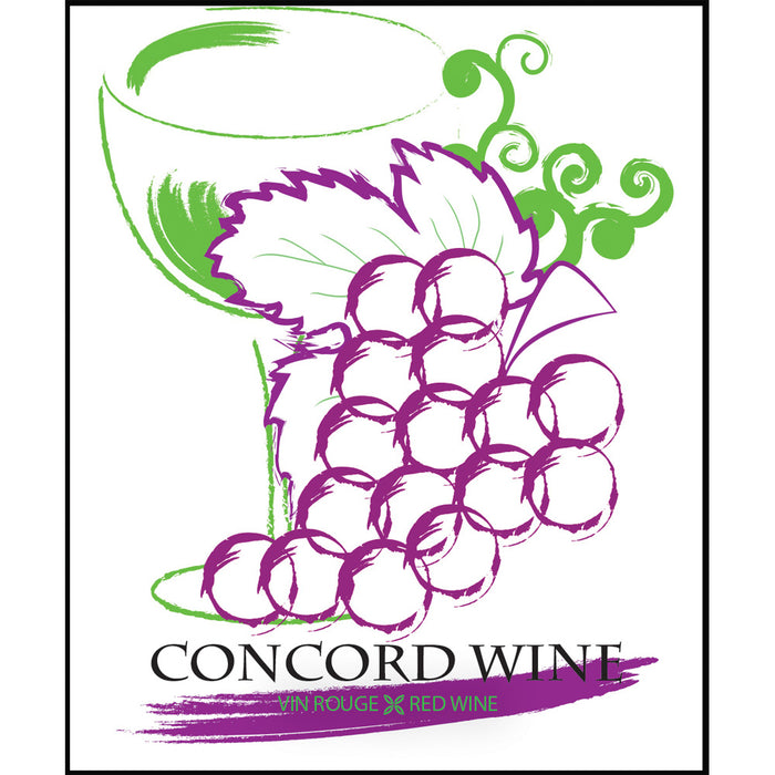 Concord Wine Self Adhesive Wine Labels, pkg of 30