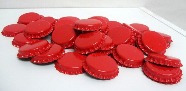 Red Beer Bottle Caps (Crowns) - 144ct - with Oxy-Liner