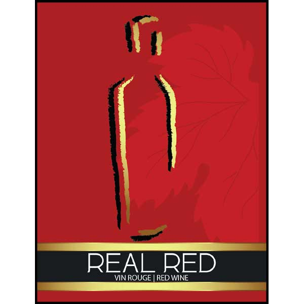 Real Red Wine Labels