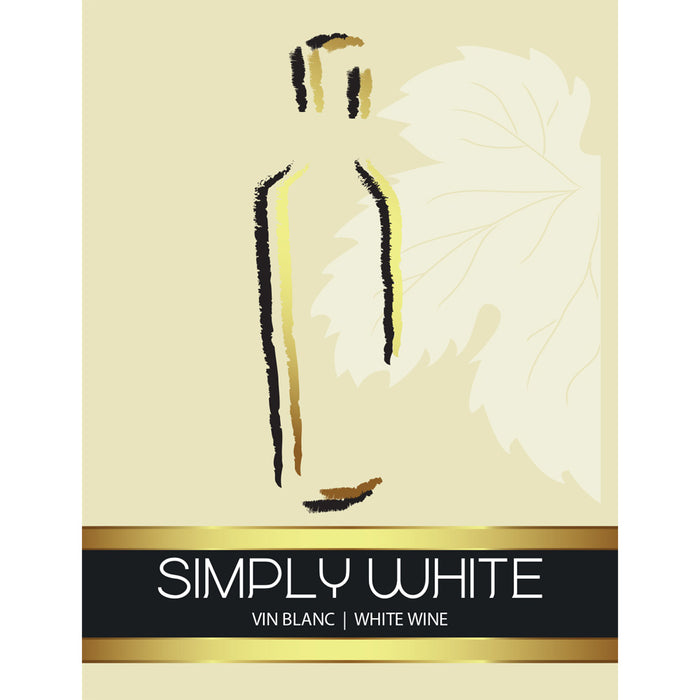 Simply White Wine Labels