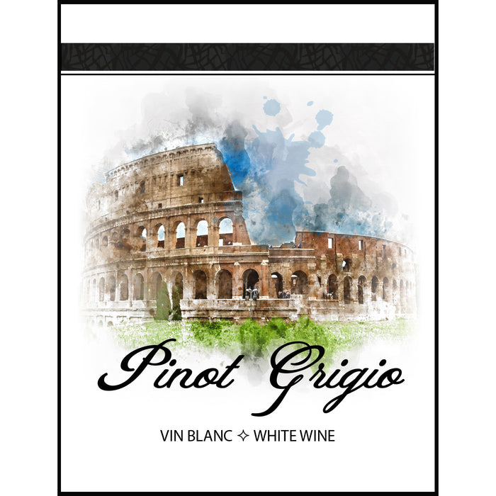 Pinot Grigio Wine Labels - 30 Pack