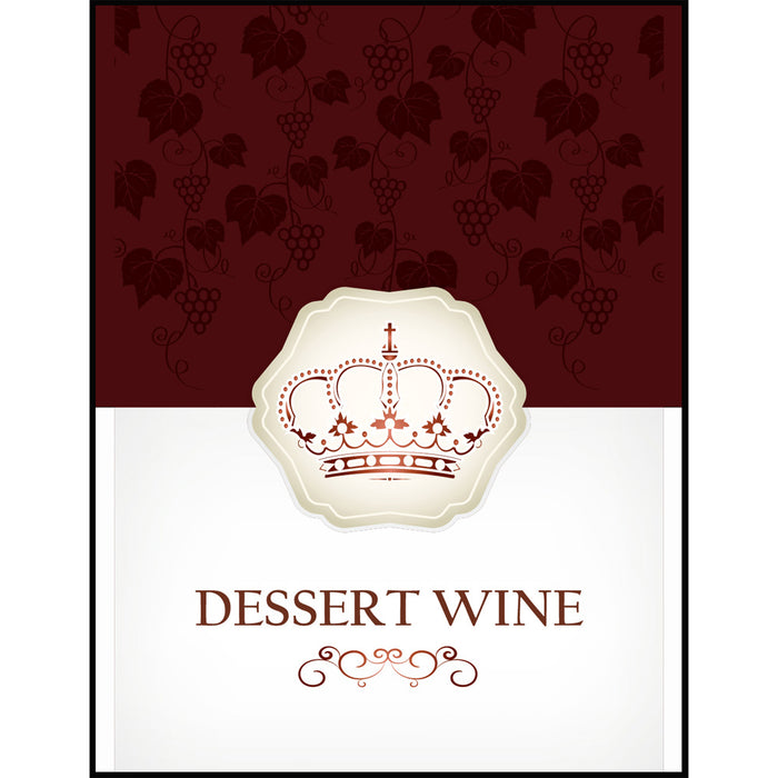 Dessert Wine Labels - 30 Pack