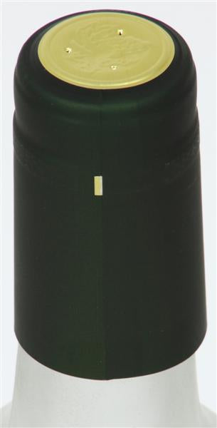 Green (Flat Metallic) Shrink Caps - 30 Count