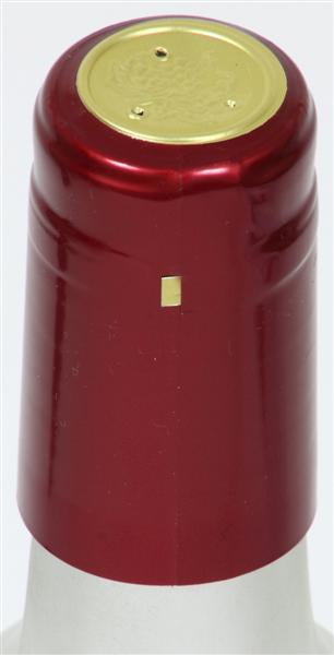 Ruby Red (Metallic) Shrink Caps - 500 Count