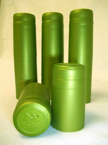 Lime Green Shrink Caps - 500 Count