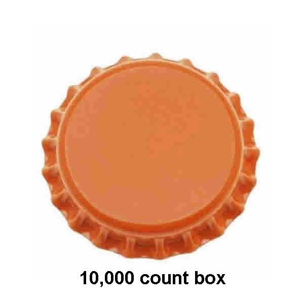 Orange Beer Bottle Caps (Crowns) - 10000ct - with Oxy-Liner
