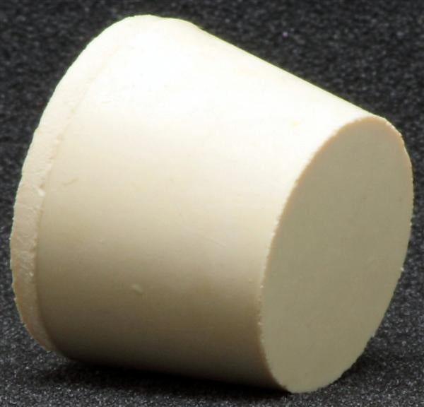 Size 6.5 Solid Rubber Stopper 1-5/16 X 1-1/16