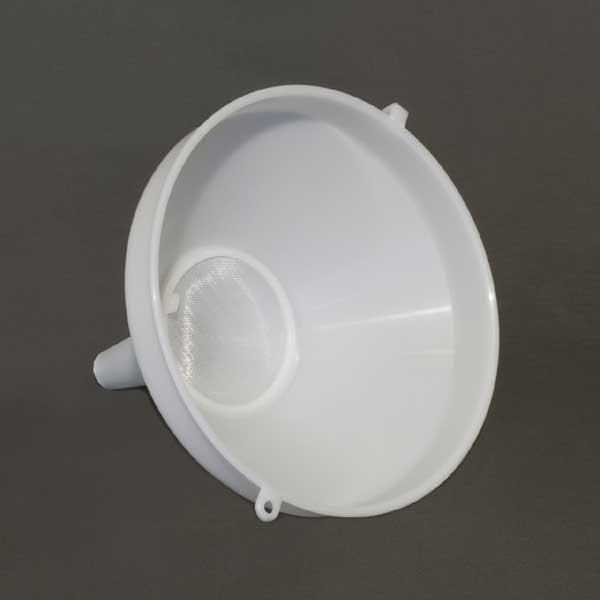 8 Inch Diameter Funnel with Removable Screen