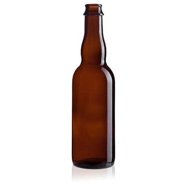 Belgian Shape Beer Bottles - Amber - TAKES STANDARD 26mm CROWN CAP - 12 per Case