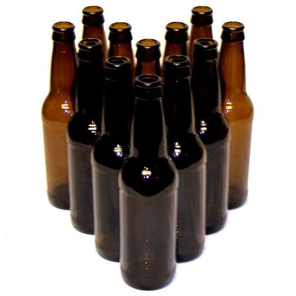 Amber (Brown) 12 oz Beer Bottles - 12 Pack Refill