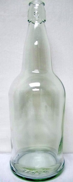 Clear EZ Cap Beer Bottles 32 oz - 12 per Case - Caps Included